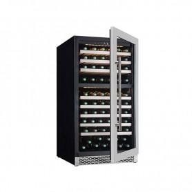 Frigo vetrina per Vino doppia temperatura. Capacità 123 bottiglie - Dim.cm. 71x59,5x127H