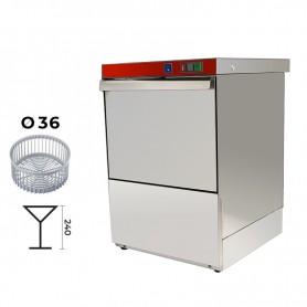Lavabicchieri elettromeccanica cestello Ø 36 cm. - H. bicchieri 24 cm. • Dosatore Brillantante Incorporato