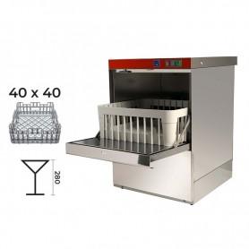 Lavabicchieri elettromeccanica cestello 40x40 - H. bicchieri 28 cm. • Dosatore Brillantante Incorporato