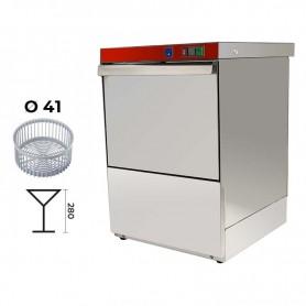 Lavabicchieri elettromeccanica cestello Ø 41 cm. - H. bicchieri 28 cm. • DOPPIO Dosatore Detergente + Brillantante Incorporato