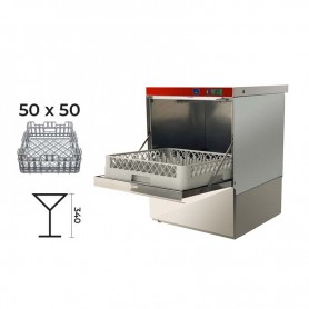 Lavastoviglie elettromeccanica cestello 50x50 • DOPPIO Dosatore  Detergente + Brillantante Incorporato • MONOFASE