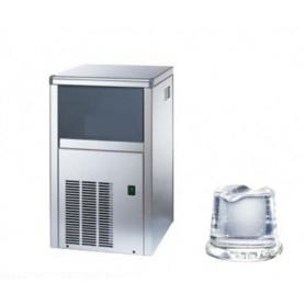 Fabbricatore di ghiaccio a cubetto pieno. Produzione giornaliera 20 Kg - Contenitore 4 Kg.