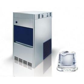 Fabbricatore di ghiaccio a cubetto pieno. Produzione giornaliera 45 Kg - Contenitore 13 Kg.