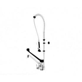 Gruppo doccia + miscelatore con dev. leva plastica. cm.35