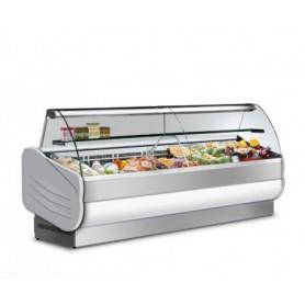 Banco Vetrina espositiva refrigerata. Lunghezza cm. 200 - Temp. +3°/+5°C