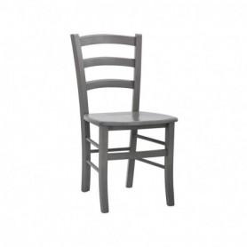 Sedia in legno con seduta in legno - Colore Grigio