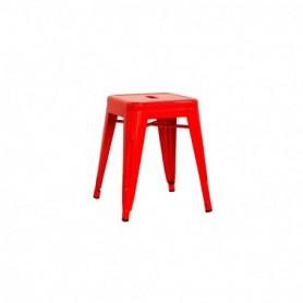 Sgabello struttura in metallo verniciato - Colore Rosso