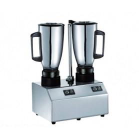 Frullatore doppio Professionale da banco - Bicchiere Inox Lt. 1