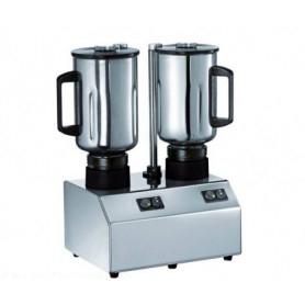 Frullatore doppio Professionale da banco - Bicchiere Inox Lt. 3 + 3